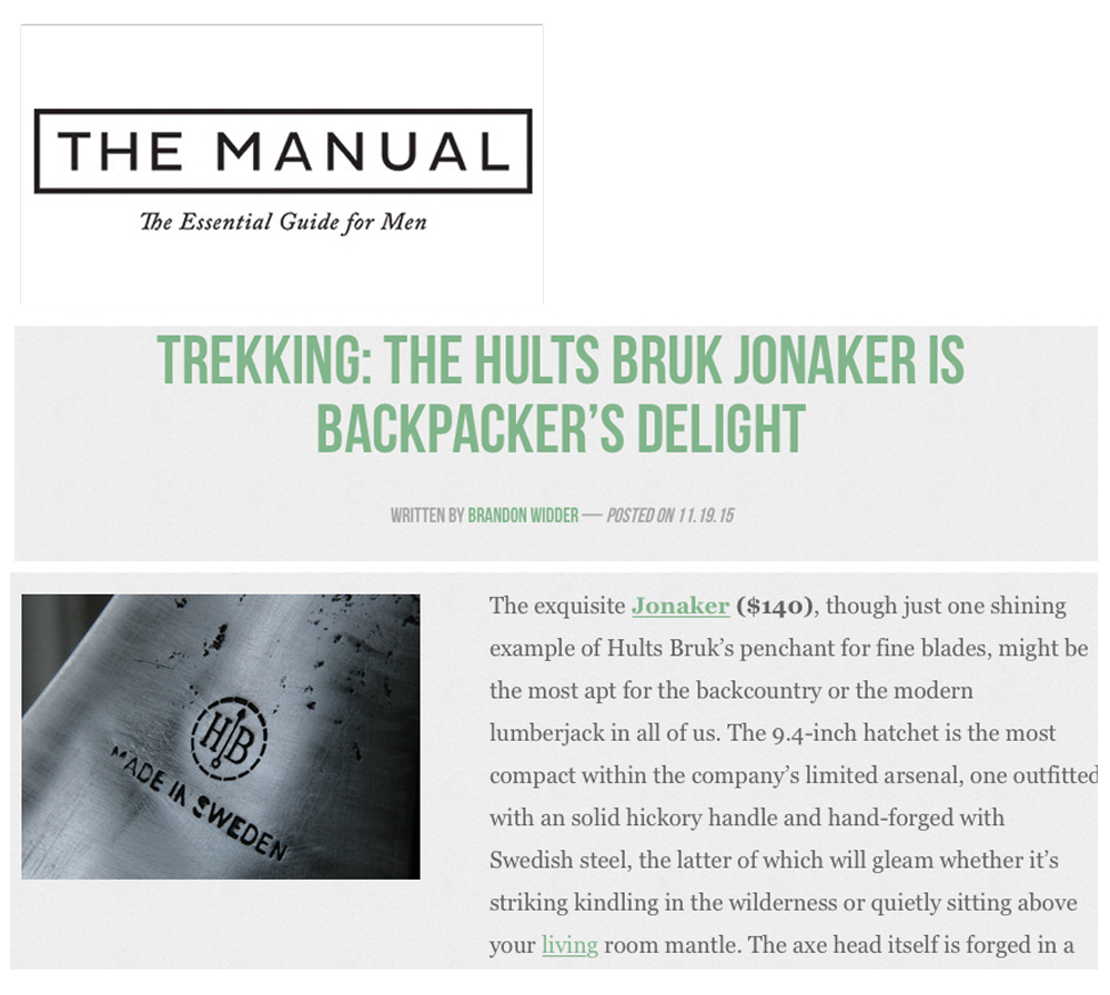 Hults Bruk - Manual