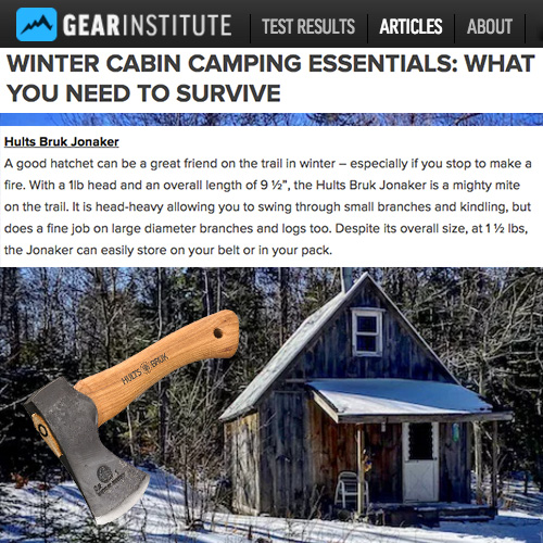 A Hults Bruk Jonaker is a Survival Essential, Says Gear Institute