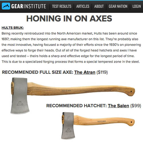 Gear Institute Hones in on Hults Bruk Axes