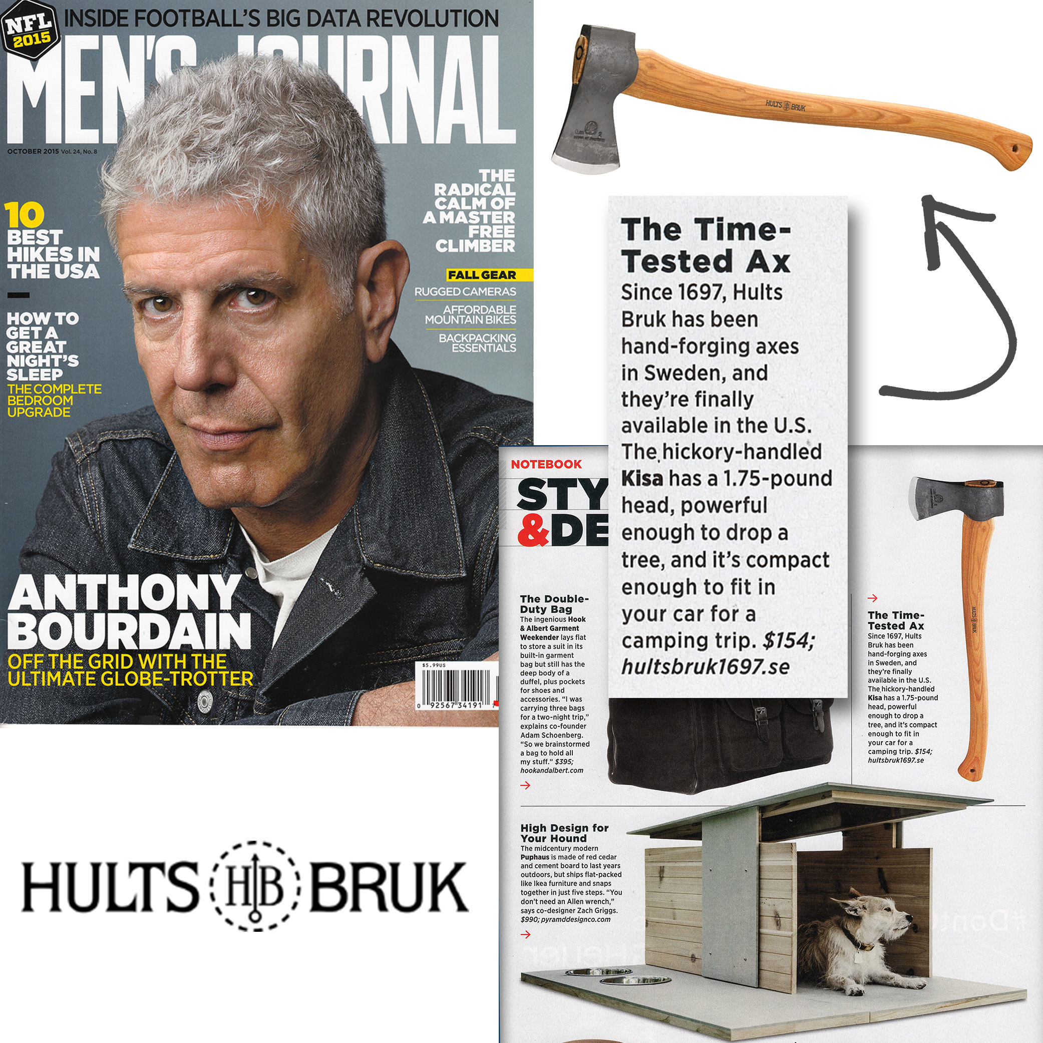 Men's Journal Highlights the Hults Bruk Kisa