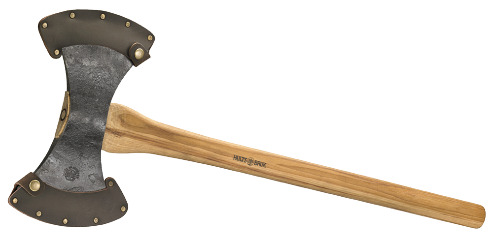 Hults Bruk Motala Throwing Axe with leather sheath