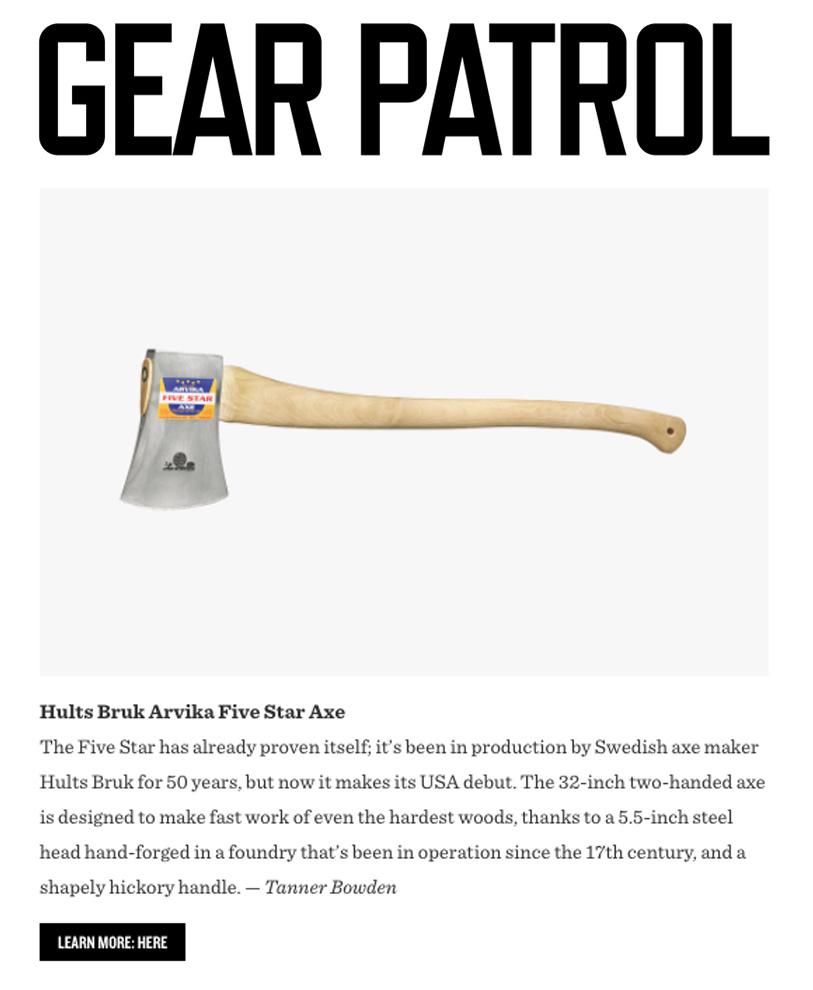 Gear Patrol Arvika 5 Star
