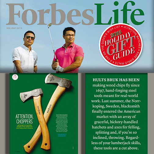 Hults Bruk Axes get featured in Forbes Life
