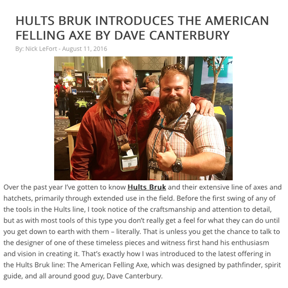 Hults Bruk - Gear Inst - Dave C Axe