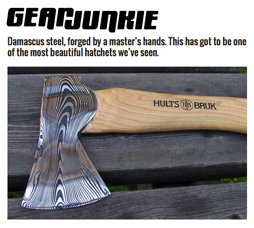 Hult Bruk Gear Junkie Swedish Steel Axes