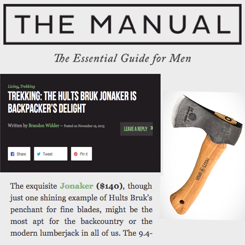 The Manual Suggests Hults Bruk's Jonaker for the Modern Lumberjack